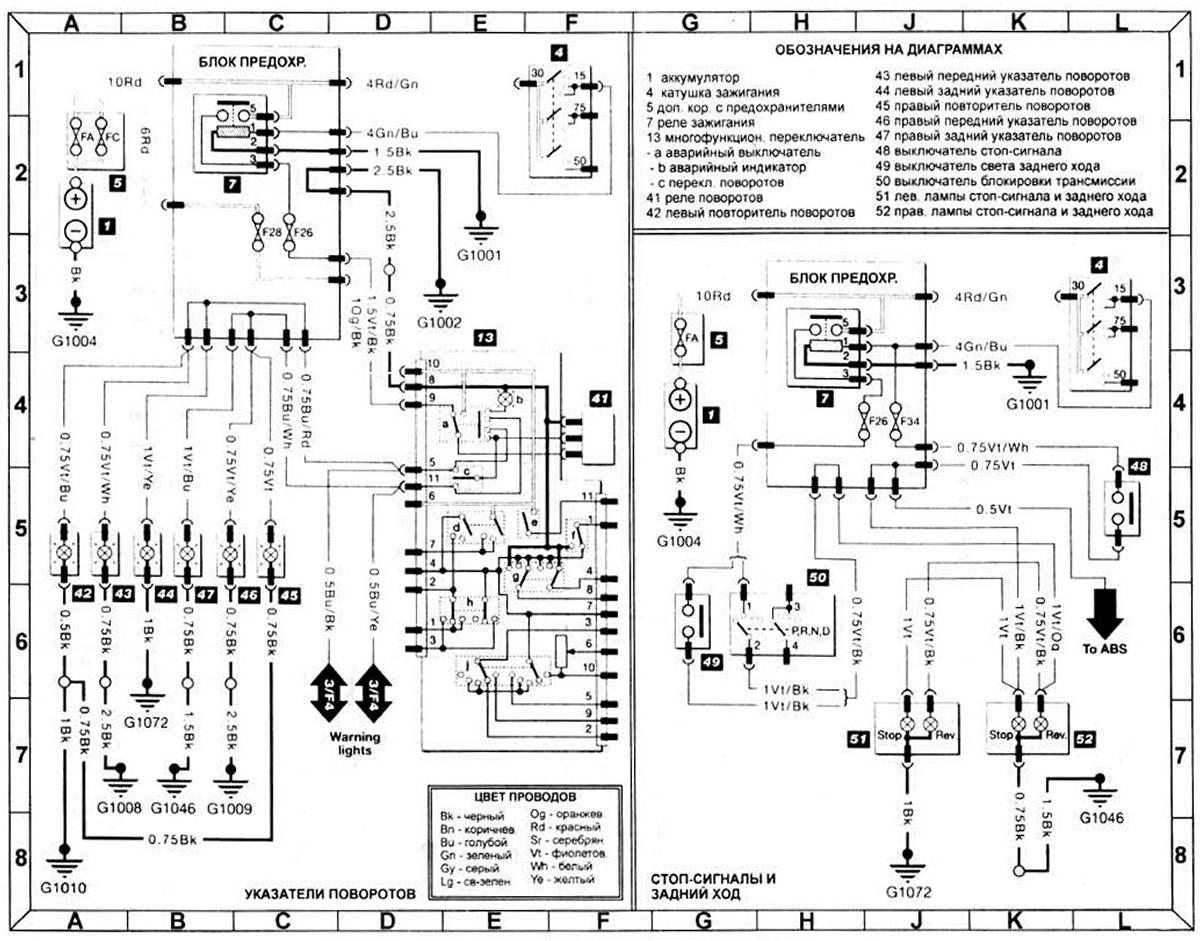 Электрические схемы на форд эскорт