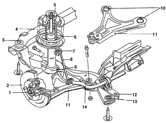 Форд фокус 1 ремонт своими руками передняя подвеска