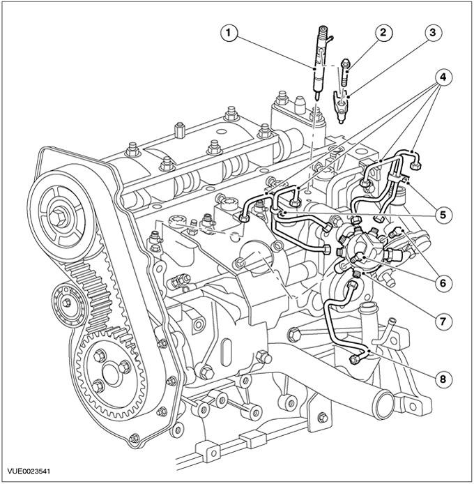 Схема топливной системы форд фокус дизель